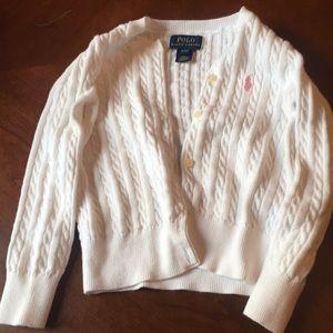 Toddler white polo sweater
